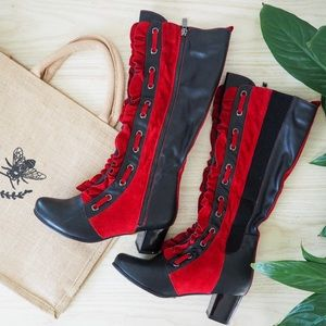 Red Flare Boots